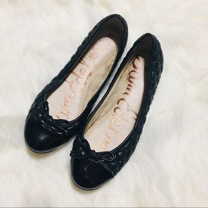 Sam Edelman quilted patent flats / size 7